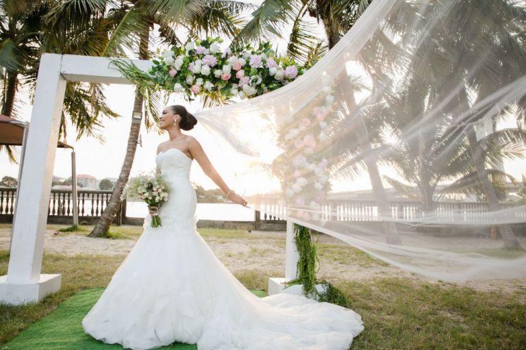 romantic bride outdoors wani olatunde